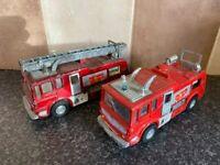 2x VINTAGE DINKY TOYS 285 MERRYWEATHER MARQUIS RED FIRE TENDERS
