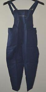 Tuta uomo lavoro pantalone con pettorina TG  60 62 64 66 68 70 cotone sanfor blu