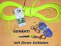 5m BioThane Schleppleine neongelb 19mm Schweissleine Suchleine Fährtenleine