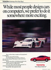 1991 Toyota Celica All Trac Turbo 99 Car Race Fast Vintage Advertisement Ad H10