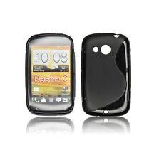 FUNDA GEL TPU NEGRA HTC DESIRE C MODELO S LINE CARCASA