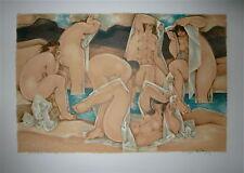 Georges Dayez Lithographie originale signée numérotée cubiste art abstrait