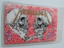 Metallica Europe 91 Laminated VIP Backstage Tour Pass