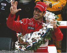 INDY CAR HELIO CASTRONEVES SIGNED 8X10 PHOTO INDIANAPOLIS 500 CHAMPION 16 W/COA
