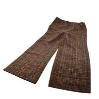 Authentic CHANEL Vintage CC Logos Long Pants Brown Red #40 France AK25016
