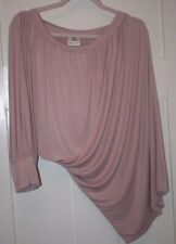 Women's Pink Silky One Sleeved Top - Size L