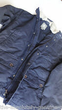 TIMBERLAND Navy BLUE Padded Jacket with FUR Collar Size L BNWT