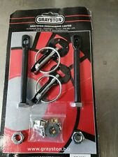 Set of Grayston Bonnet pins , Black , Rally Race
