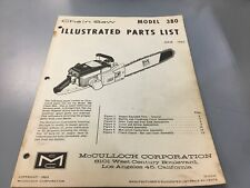 mcculloch 380 chainsaw,illustrated parts list,Mcculloch June 1963