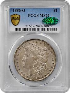 1886-O $1 Morgan Dollar MS-62 PCGS/CAC Certified