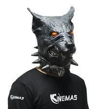 Halloween Creepy Wear Collar of the Wolf Head Latex Mask