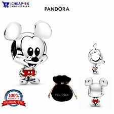 100% GENUINE S925 ALE Disney Pandora Mickey Mouse Charm + VELVET POUCH RRP £45