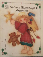 Helenas Heartstrings & Angelwings By Helena Cook Tole Painting Book Christmas.