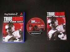 JEU Sony PLAYSTATION 2 PS2 TRUE CRIME NEW YORK CITY (complet, envoi suivi)