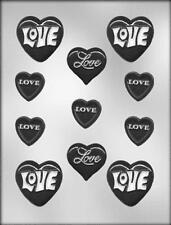 Valentine Hearts with Love Chocolate Candy Mold from CK #1800 - NEW