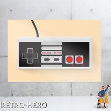 Nintendo NES Controller Poster Konsole Bild Druck Plakat Videospiel snes #2 Neu