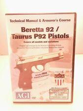 Beretta 92 Taurus P92 Gunsmithing Armorer Dvd Agi Video Gunsmith Technical