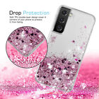 For Samsung S21 Ultra S20 FE Note20 A12 A32 A51 Bling Quicksand Clear Case Cover