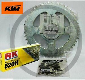 Kit trasmissione catena 520 Rk corona 45 pignone 14 denti KTM Duke 125