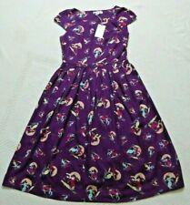 bnwt EMILY AND FIN 'CLAUDIA'  Aubergine/Purple Dress ~Vintage Skiers. S (UK 10)