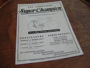 catalogue originale '49 Super Champion vélo course randonneuse ancien René Herse