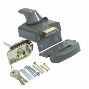 Yale Nightlatch BS3621 Cyl Rim Lock Grey 60MM (P-BS1-DMG-PB-60) 2 x Keys
