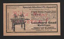 WAIBLINGEN, Werbung 1922, Leonhard Gnad Spezial-Fabrik für Ziegelei-Maschinen