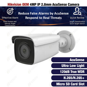 Hikvision DS-2CD2T46G1-2I OEM 4MP IP AcuSense DarkFighter True WDR Bullet Camera
