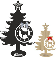 More details for bloodhound christmas tree and bauble xmas decoration dog breeds table decoration
