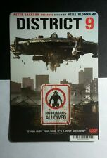DISTRICT 9 NO HUMANS ALLOWED  MINI POSTER BACKER CARD (NOT A movie)