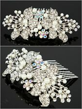 Set of 2 Wedding Hair Combs Rhinestones Bridal Hair Accessories for Bridesmaids