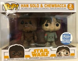 Funko POP Han Solo and Chewbacca Smugglers Bounty Exclusive 2 Pack w/ Protector