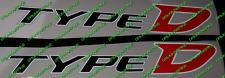 Honda Civic type D Réfléchissant Diesel EP4 Fn3 Panneau Latéral Jupe autocollants autocollant