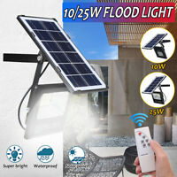 10W/25W LED Energia Solare Movimento Giardino Esterno Luce Security Flood Muro