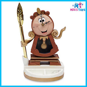 Disney Store Cogsworth Figurine Clock with Pen - Beauty and the Beast