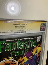 Fantastic Four #78 Cgc 7.5 SS Stan Lee Silver Age RARE Thing No More