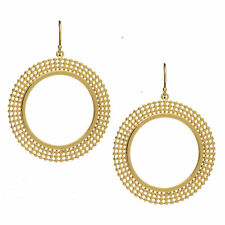 Azuni London Etrusca Statement Beaded Hoop Earrings in Gold Plated