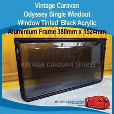 Caravan Window Odyssey Single Windout Tinted Aluminium 380mm x 1524mm 041333