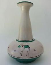 SUPERBE VASE VINTAGE signé D'AMORE VIETRI céramique ITALIE décor ANIMAUX ETOILES