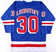 Henrik Lundqvist Unsigned Rangers On-Ice Style Custom Stitched Jersey (Size XL)