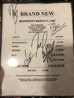 Brand New Jesse Lacey Signed Load Out Sheet One Of A Kind Chicago