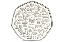 RARE 2011 WWF 50p FIFTY PENCE WORLD WILDLIFE FUND - ROYAL MINT - COIN HUNT