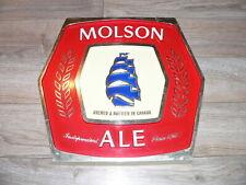 Vintage Molson Ale Canadian Beer Wall Advertising Logo Bar Sign