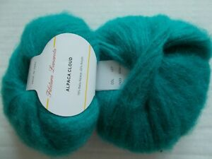Filatura Lanarota Alpaca Cloud luxury yarn, Teal, lot of 2 (109 yds ea)