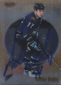 Adam Oates Autograph 98-99 Bowman Capitals Card Blues - Bruins HOF