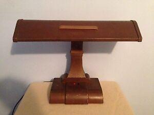 Period Art Deco Industrial Vintage Large Metal Table Desk Lamp ( Works Great )