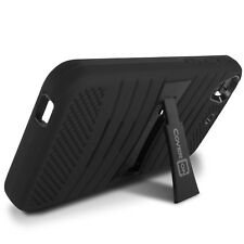 For HTC Desire 626 / 626S Case - Black Hybrid Heavy Duty Tough Phone Stand Cover