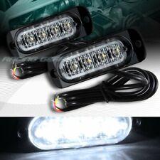 8 LED WHITE CAR EMERGENCY BEACON HAZARD WARNING FLASH STROBE LIGHT BAR UNIVERSAL