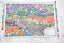 Vintage 1960's original OS geological map Haverfordwest, Wales