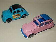 LOt de 2 véhicules voitures 2 CV miniatures NOREV et JOUSTRA vintage